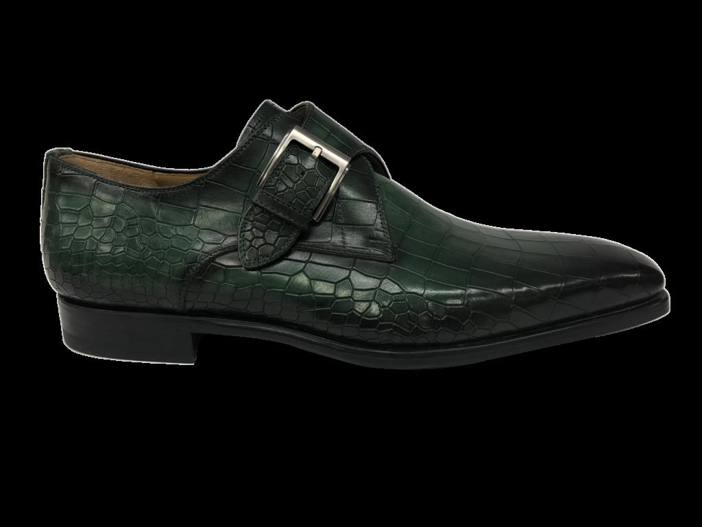 groene kroko leer magnanni gespen