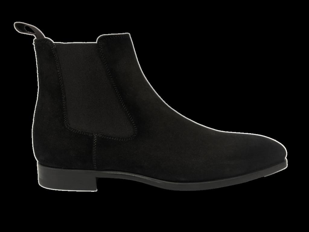 zwarte suede schoen Magnanni