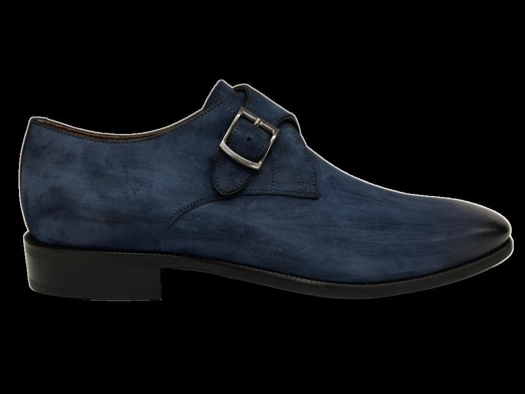 Blauw leren schoen Melik