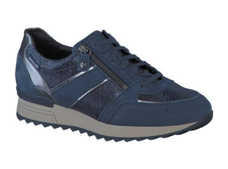 blauwe sneaker mephisto