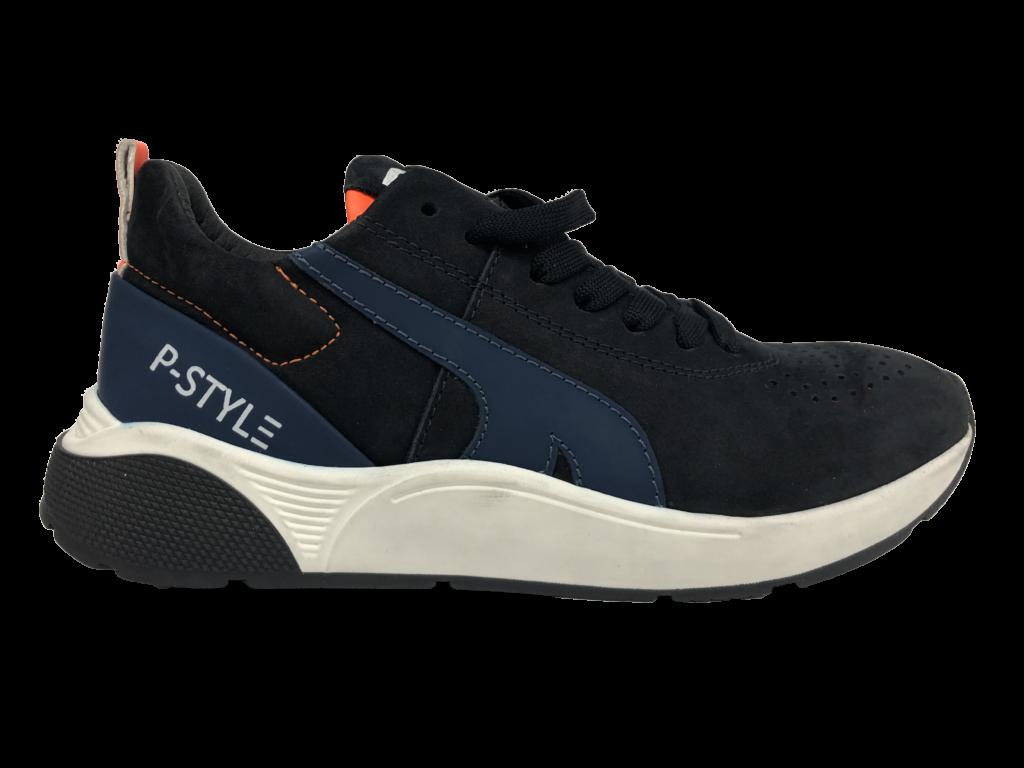 Blauwe sneaker Piedro