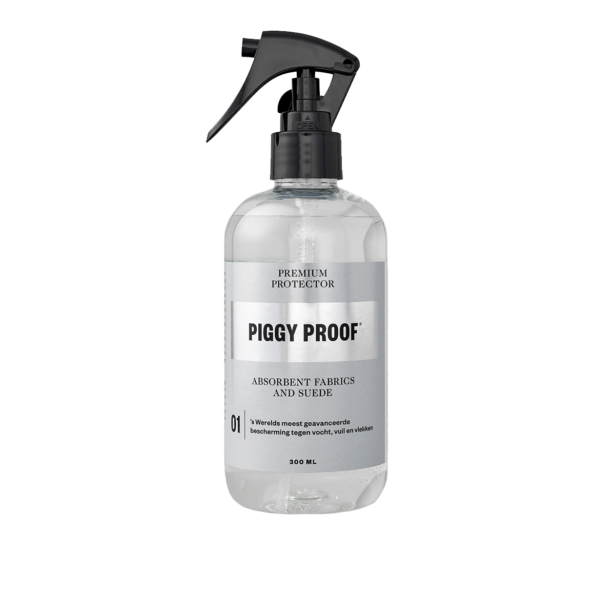 Piggy Proof | 01 Premium Protector Absorbent Fabrics | 150ml €17,50 300ml €24,99